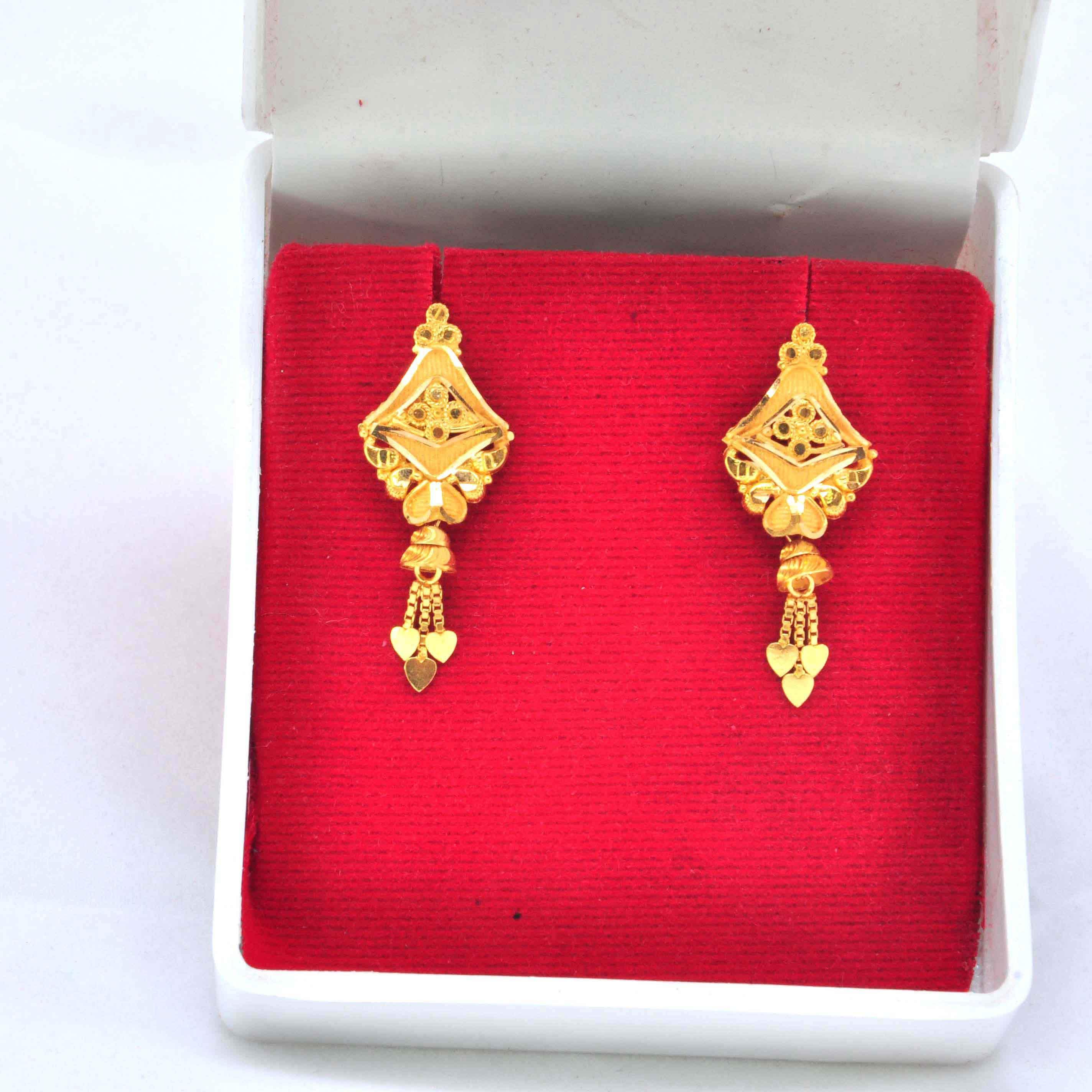 Beautiful Ladies earring SLJ-1263 - Shubhlaxmi Gold jeweller ...